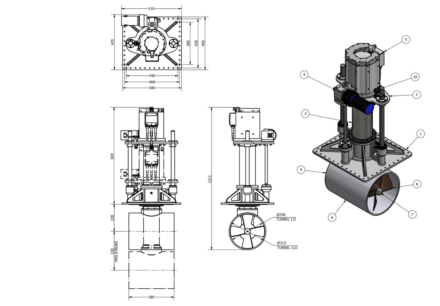 OMS Vertical Thruster E-0300-V