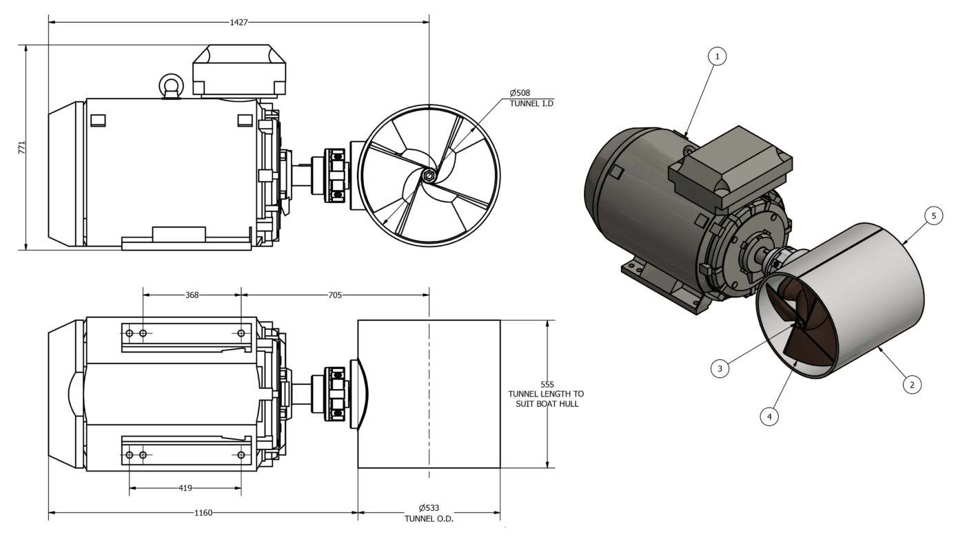 OMS-Electric-Tunnel-Thruster-E-0500-T