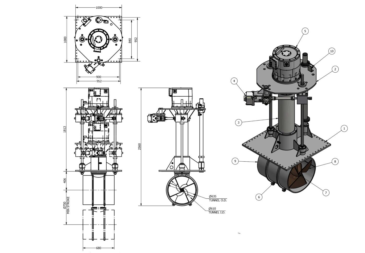 OMS Electrical Thruster E-0600-V