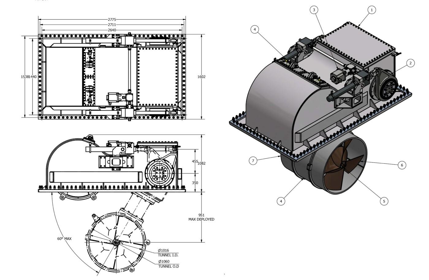 OME-Tunnel-Thruster-E-250-T
